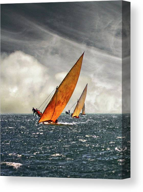 Kenya Canvas Print featuring the photograph The Art Of Swahili Dhow Racing by David Schweitzer