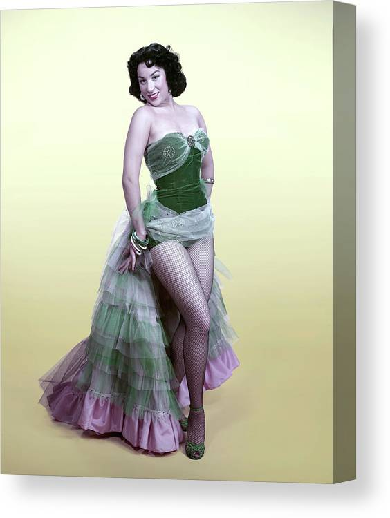 Hair Type Canvas Print featuring the photograph The Lady In The Spanish Dress by Tom Kelley Archive