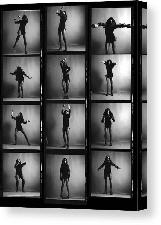 Singer Canvas Print featuring the photograph Tina Turner Contact Sheet by Jack Robinson