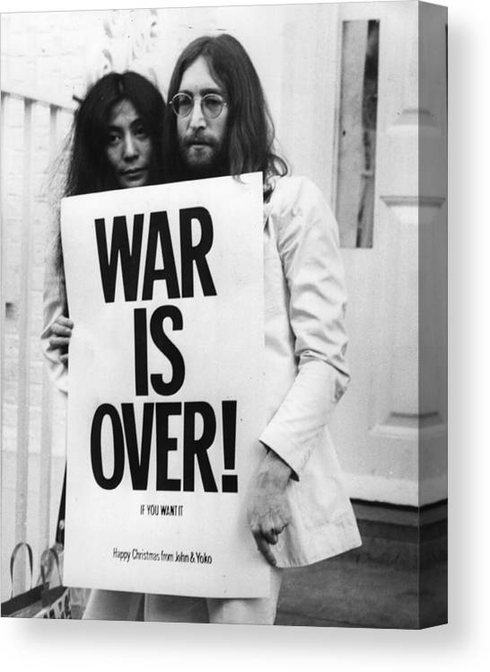 Rock Music Canvas Print featuring the photograph War Is Over by Frank Barratt