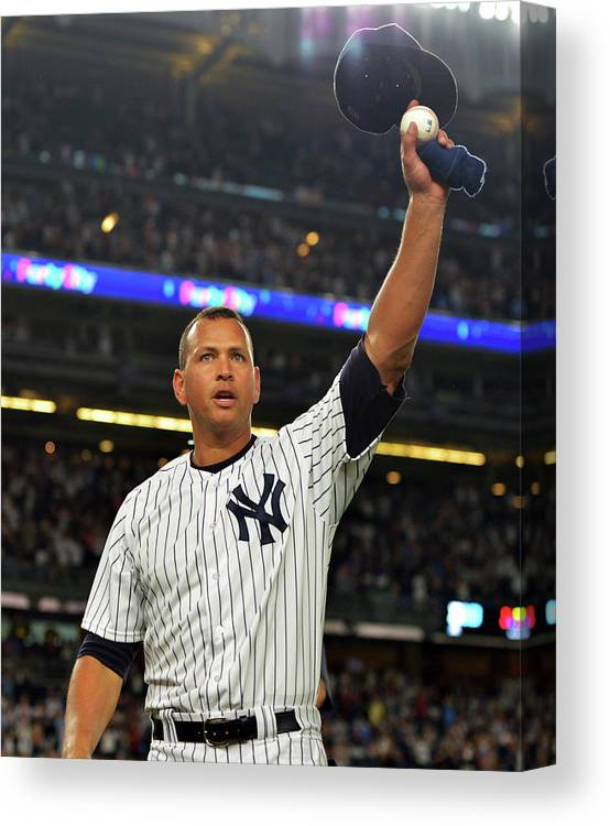 Crowd Canvas Print featuring the photograph Alex Rodriguez by Drew Hallowell