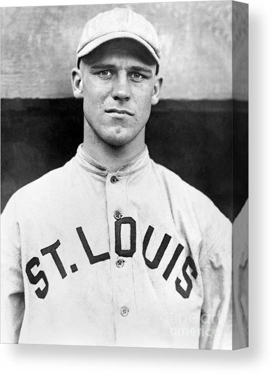 American League Baseball Canvas Print featuring the photograph George Sisler by National Baseball Hall Of Fame Library