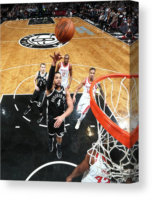 Nba Pro Basketball Canvas Print featuring the photograph Jahlil Okafor by Nathaniel S. Butler