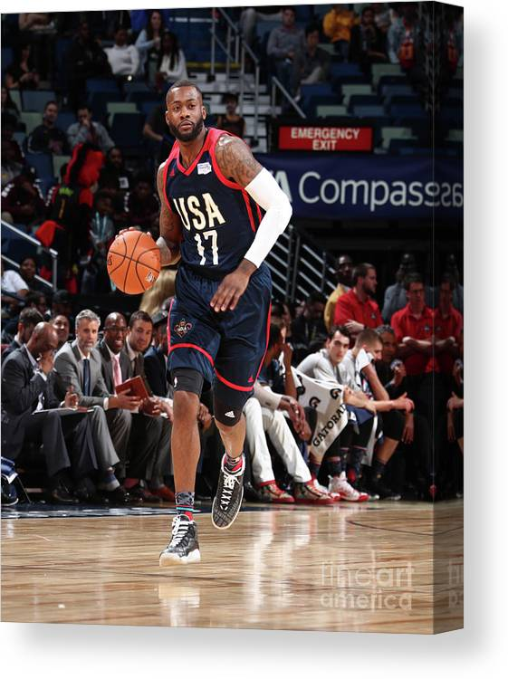 Event Canvas Print featuring the photograph Jonathon Simmons by Nathaniel S. Butler