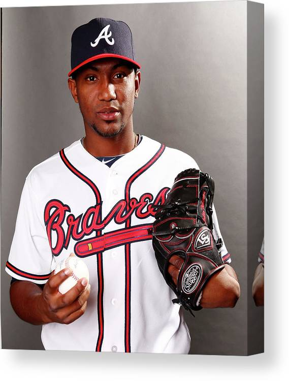 Media Day Canvas Print featuring the photograph Julio Teheran by Elsa