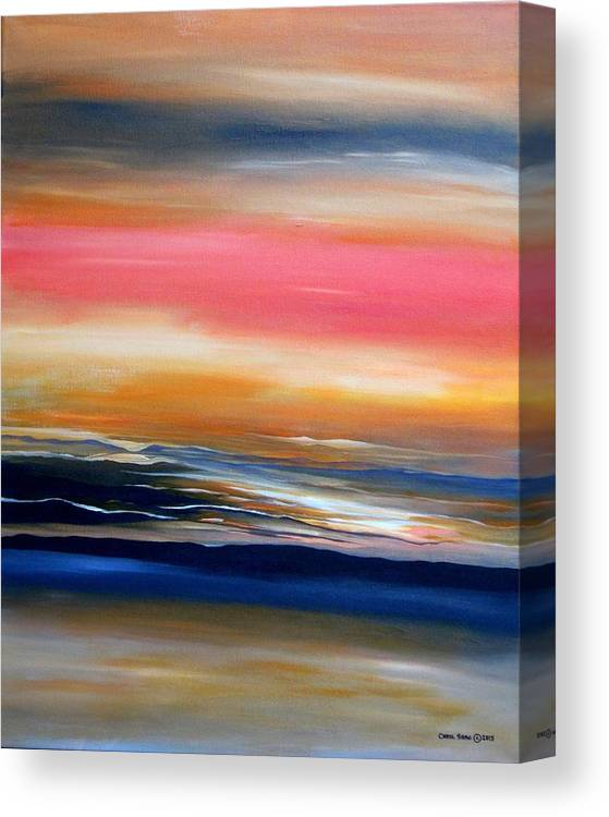 Abstract Canvas Print featuring the painting Land, Sea and Sky by Carol Sabo