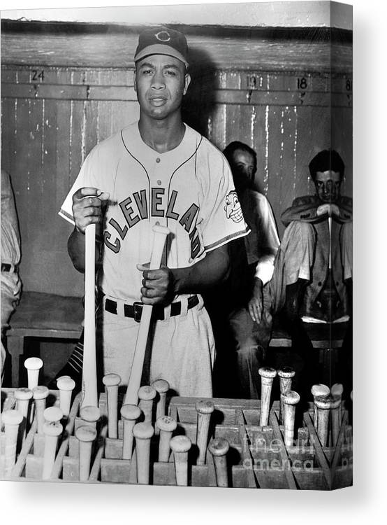 American League Baseball Canvas Print featuring the photograph Larry Doby by National Baseball Hall Of Fame Library