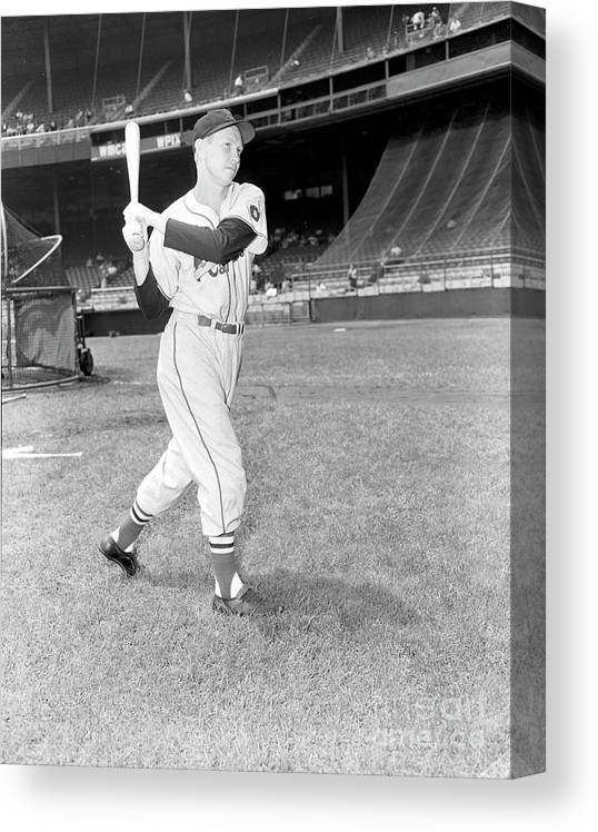 Red Schoendienst Canvas Print featuring the photograph Red Schoendienst by Kidwiler Collection