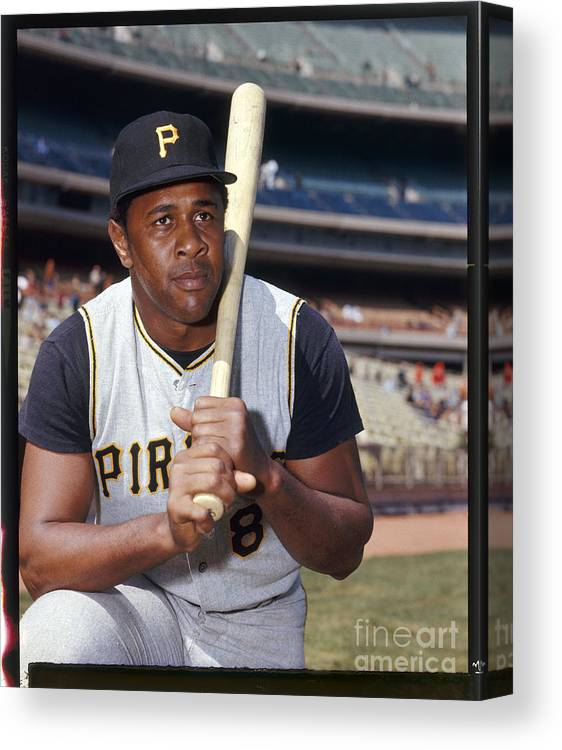 Sports Bat Canvas Print featuring the photograph Willie Stargell by Louis Requena