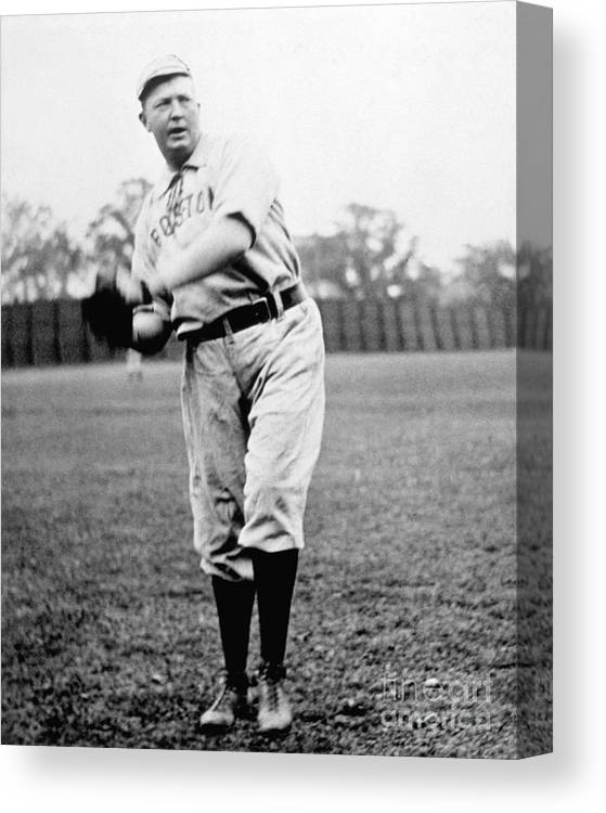 People Canvas Print featuring the photograph Cy Young by National Baseball Hall Of Fame Library
