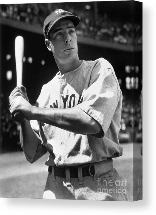 American League Baseball Canvas Print featuring the photograph Joe Dimaggio by National Baseball Hall Of Fame Library