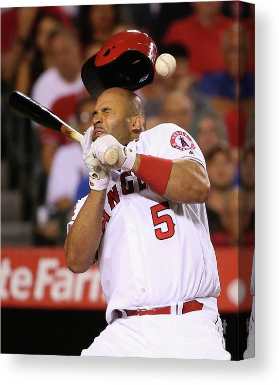 Three Quarter Length Canvas Print featuring the photograph Albert Pujols by Sean M. Haffey
