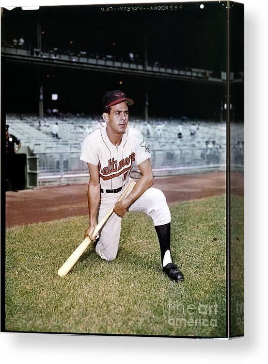 American League Baseball Canvas Print featuring the photograph Luis Aparicio by Louis Requena