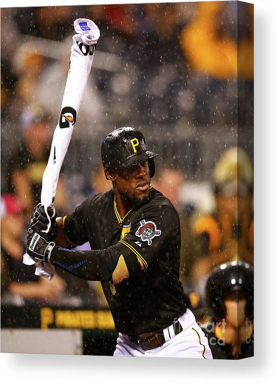 On-deck Circle Canvas Print featuring the photograph Starling Marte by Jared Wickerham