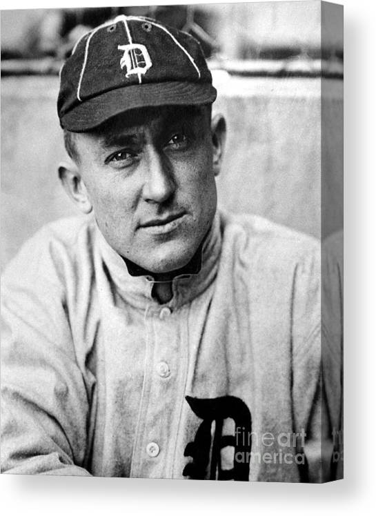 National League Baseball Canvas Print featuring the photograph Ty Cobb by National Baseball Hall Of Fame Library