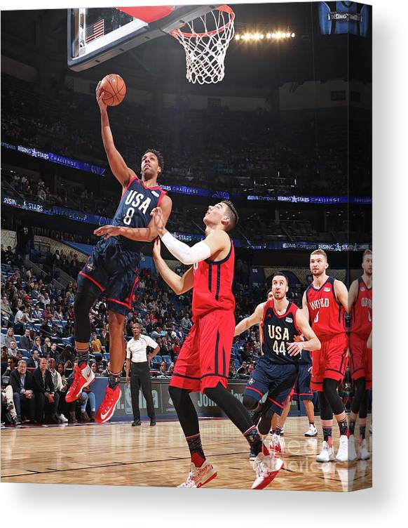 Event Canvas Print featuring the photograph Jahlil Okafor by Nathaniel S. Butler