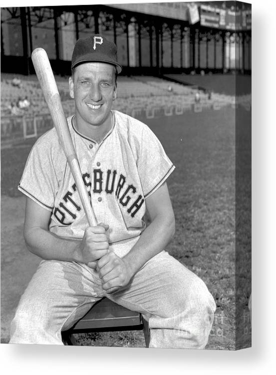 Three Quarter Length Canvas Print featuring the photograph Ralph Kiner by Kidwiler Collection