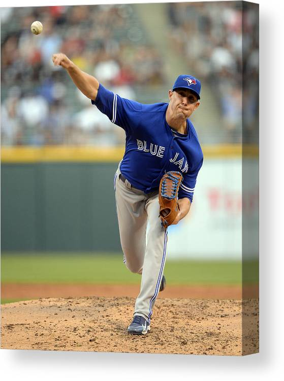 People Canvas Print featuring the photograph Aaron Sanchez by Ron Vesely