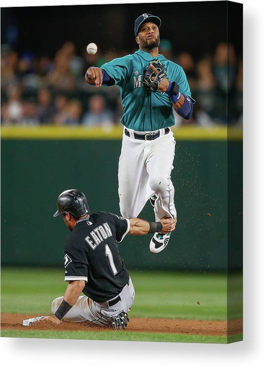 Double Play Canvas Print featuring the photograph Adam Eaton by Otto Greule Jr