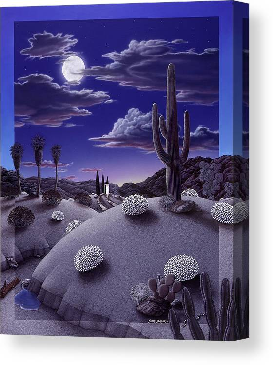 Desert Canvas Print featuring the painting After the Rain by Snake Jagger