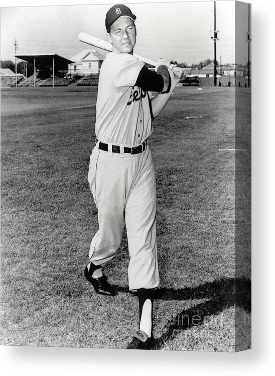 American League Baseball Canvas Print featuring the photograph Al Kaline by National Baseball Hall Of Fame Library