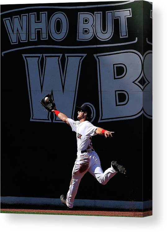 People Canvas Print featuring the photograph Andrew Benintendi by Jim Rogash