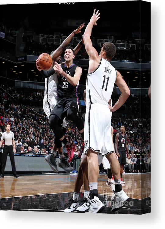 Nba Pro Basketball Canvas Print featuring the photograph Austin Rivers by Nathaniel S. Butler
