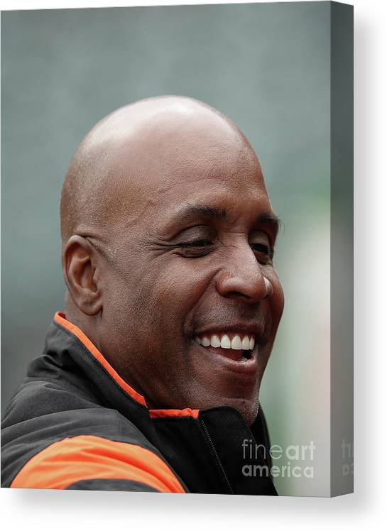 San Francisco Canvas Print featuring the photograph Barry Bonds by Ezra Shaw