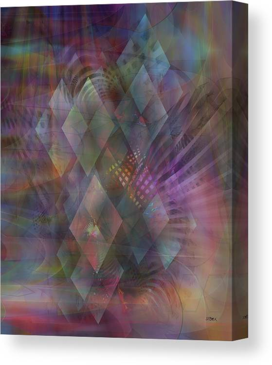 Bedazzled Canvas Print featuring the digital art Bedazzled by John Robert Beck