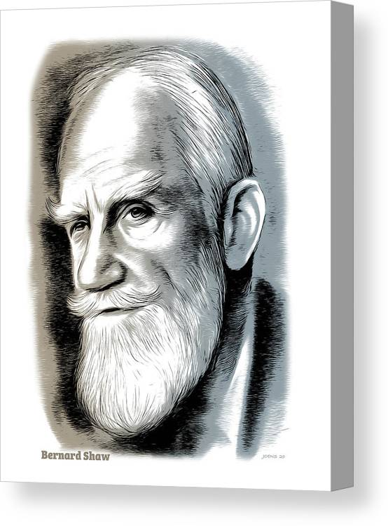 Bernard Shaw Canvas Print featuring the mixed media Bernard Shaw - Mixed Media by Greg Joens