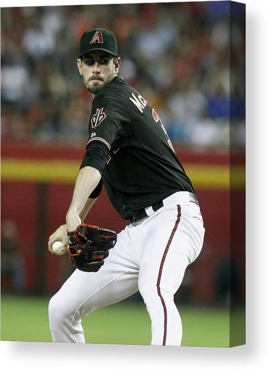 Coin Canvas Print featuring the photograph Brandon Mccarthy by Ralph Freso