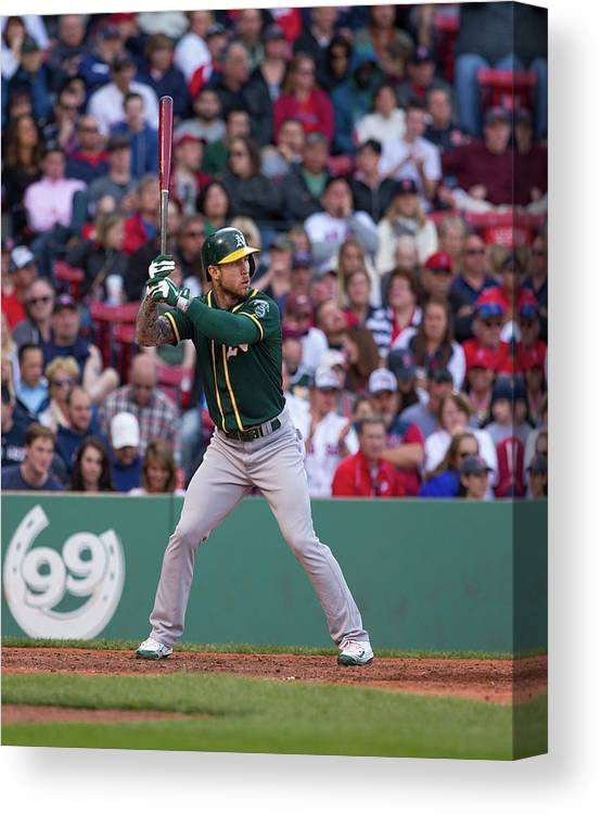 People Canvas Print featuring the photograph Brett Lawrie by Rich Gagnon