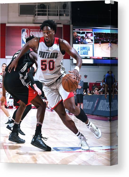Nba Pro Basketball Canvas Print featuring the photograph Caleb Swanigan by Noah Graham