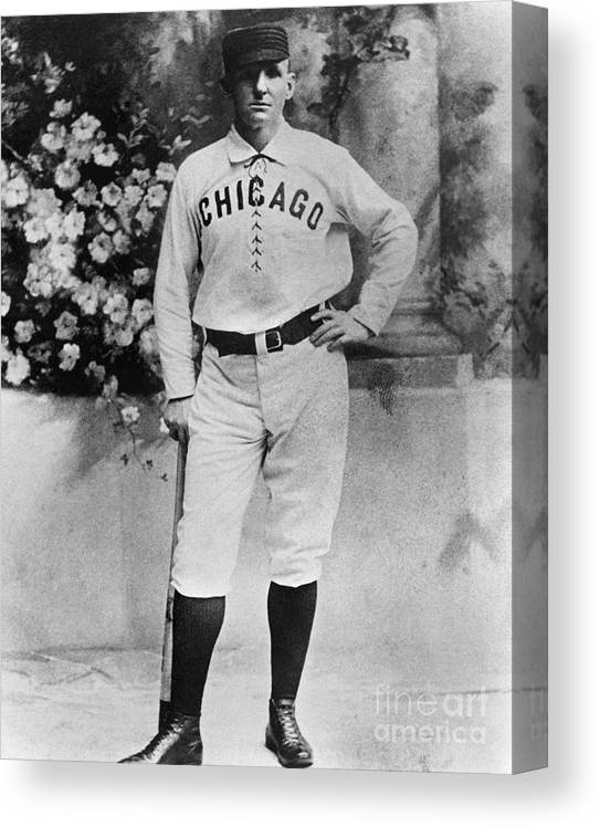 Formalwear Canvas Print featuring the photograph Cap Anson by National Baseball Hall Of Fame Library