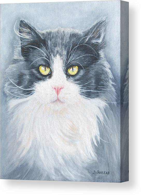 Pet Portrait Artist Canvas Print featuring the painting Cat Print Pet Portrait Artist For Hire Commission by Diane Jorstad