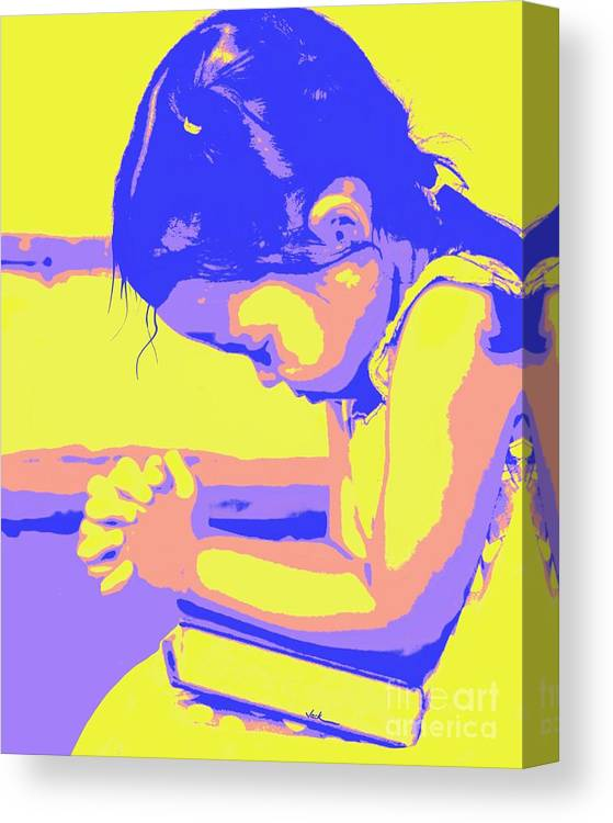 Prayer Canvas Print featuring the painting Child Praying 1 by Jack Bunds