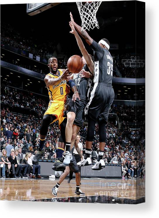Nba Pro Basketball Canvas Print featuring the photograph C.j. Miles by Nathaniel S. Butler