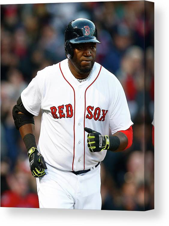 American League Baseball Canvas Print featuring the photograph David Ortiz by Jared Wickerham