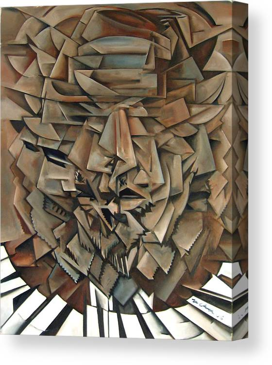 Jazz Piano Thelonious Monk Canvas Print featuring the painting Epistrophy by Martel Chapman
