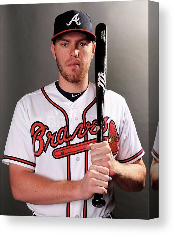 Media Day Canvas Print featuring the photograph Freddie Freeman by Elsa