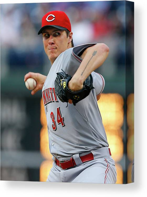 Second Inning Canvas Print featuring the photograph Homer Bailey by Rich Schultz