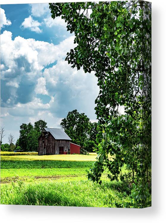 Landscape Canvas Print featuring the photograph Indiana Barn #4 by Scott Smith