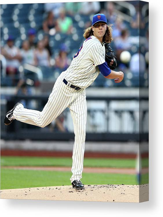 Jacob Degrom Canvas Print featuring the photograph Jacob Degrom by Elsa