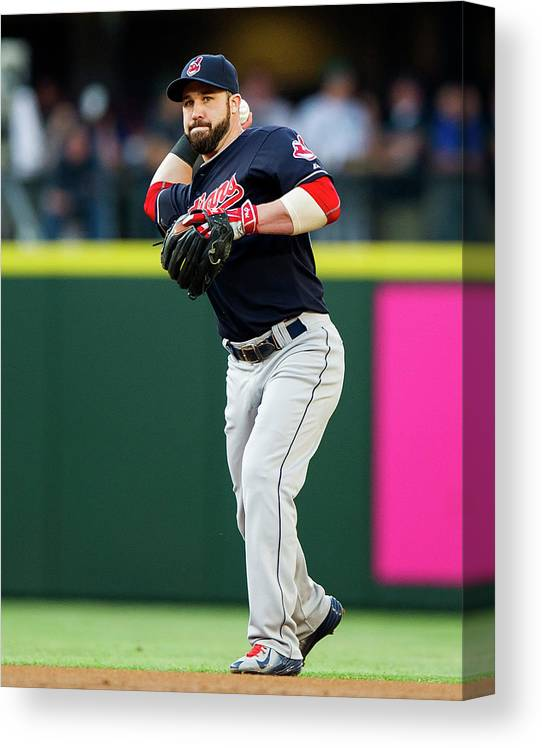 People Canvas Print featuring the photograph Jason Kipnis by Rich Lam