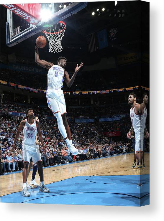 Nba Pro Basketball Canvas Print featuring the photograph Jerami Grant by Layne Murdoch