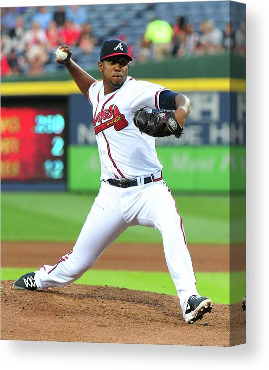 Atlanta Canvas Print featuring the photograph Julio Teheran by Scott Cunningham