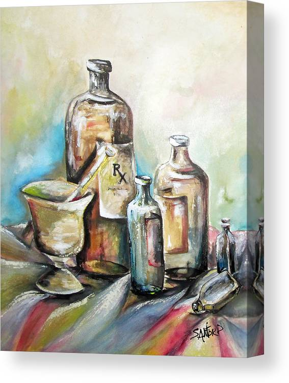 Pharmaceuticals Canvas Print featuring the painting Kindered Spirits SOLD by Amanda Sanford