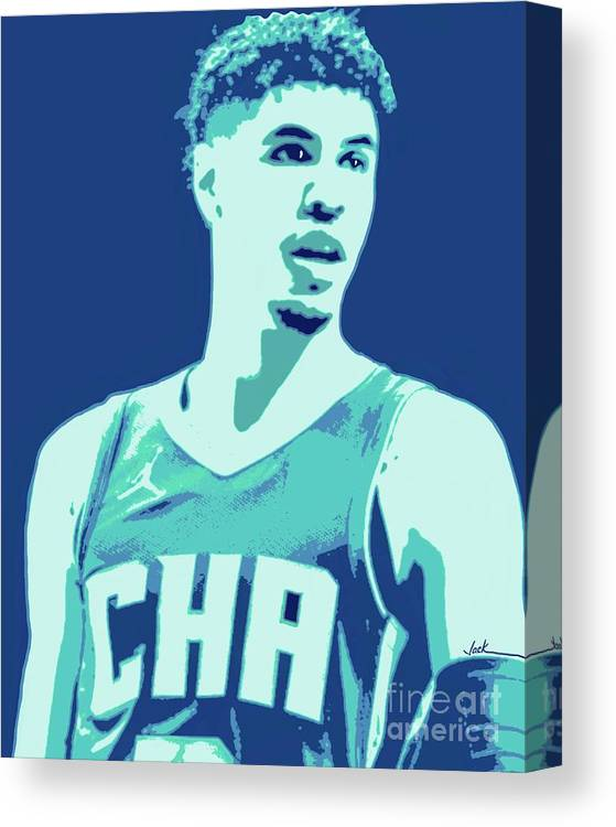 Lamelo Canvas Print featuring the painting LaMelo Ball by Jack Bunds