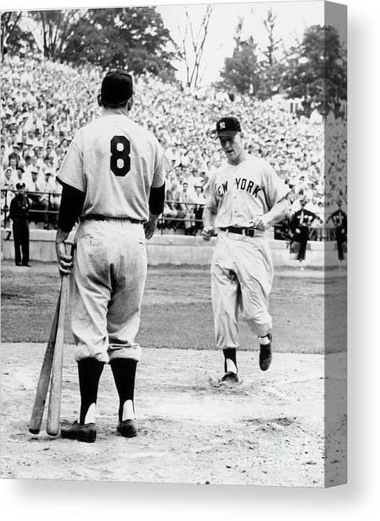 American League Baseball Canvas Print featuring the photograph Mickey Mantle by National Baseball Hall Of Fame Library