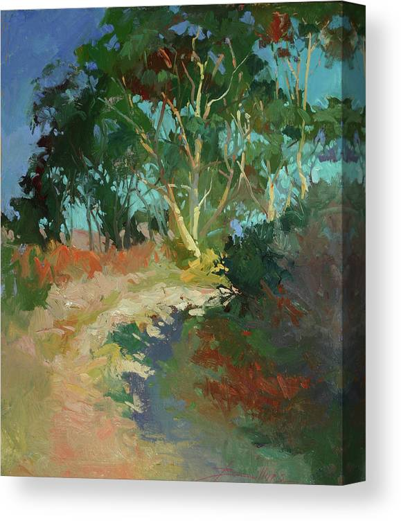 Plein Air Paintings Canvas Print featuring the painting Morning Has Broken by Betty Jean Billups
